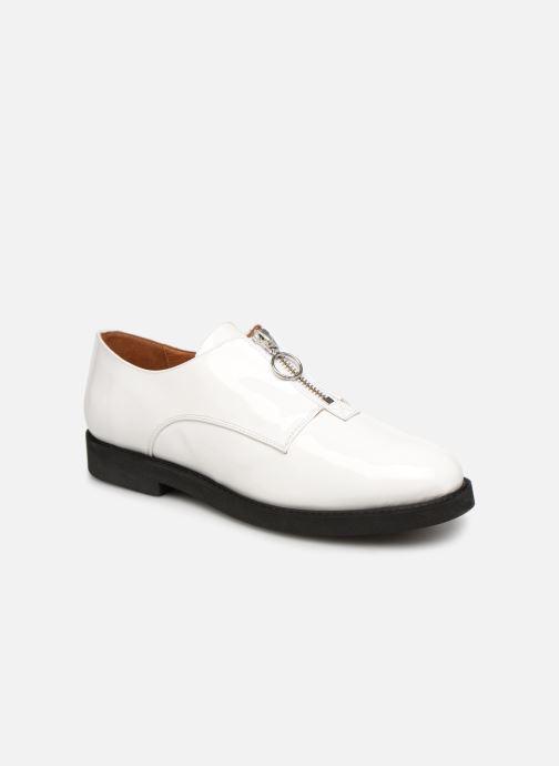 Mocassins Made by SARENZA Pastel Affair Chaussures à Lacets #1 Blanc vue droite
