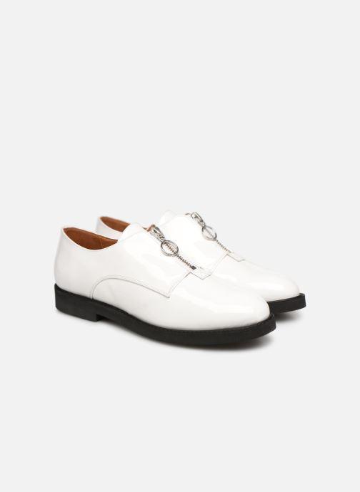 Mocassins Made by SARENZA Pastel Affair Chaussures à Lacets #1 Blanc vue derrière