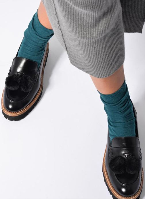 Loafers Made by SARENZA 90's Girls Gang Mocassins #4 Black view from underneath / model view