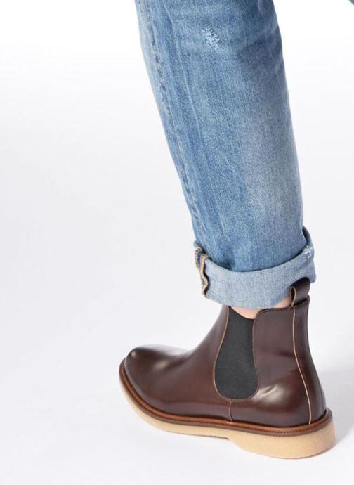 Bottines et boots Schmoove Woman Darwin Chelsea Polido Noir vue bas / vue portée sac