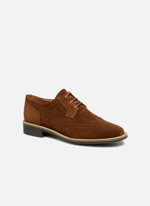 Lace-up shoes Schmoove Woman Newton Perfo Brown detailed view/ Pair view