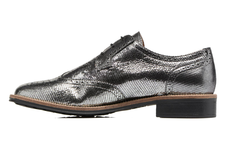 Chaussures à lacets Schmoove Woman Newton perfo Diamond Argent vue face