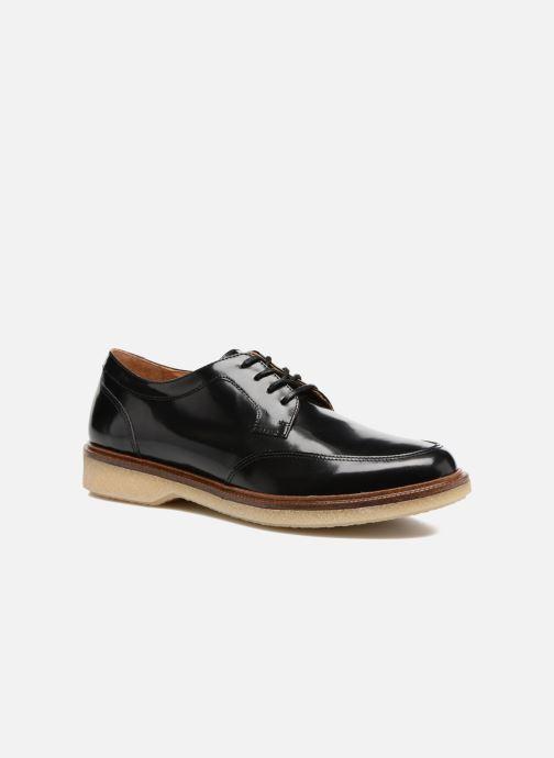 Snøresko Schmoove Woman Darwin derby Polido Sort detaljeret billede af skoene