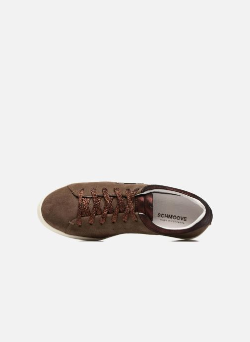 Baskets Schmoove Woman Sally sneaker Suede Marron vue gauche