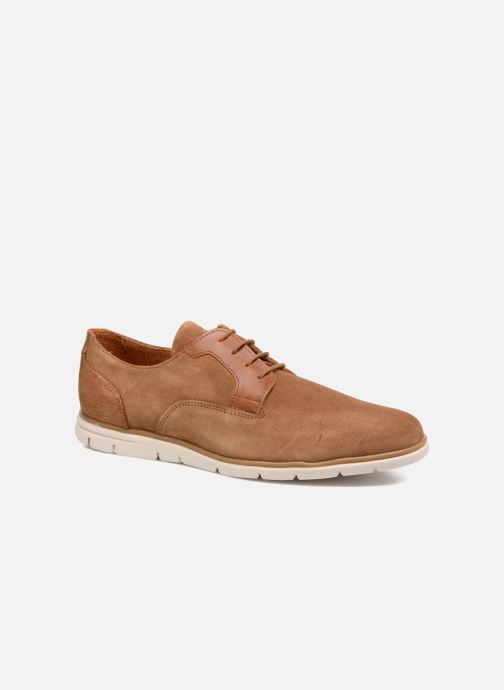 Lace-up shoes Schmoove Shaft Club Suede Brown detailed view/ Pair view