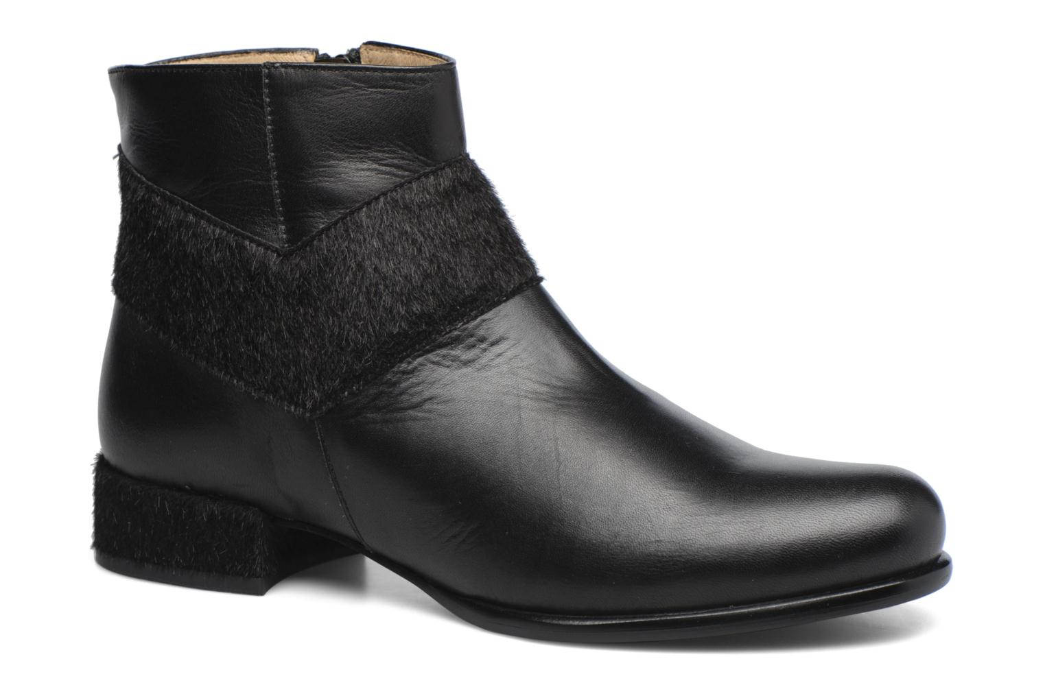 Ankle boots Made by SARENZA Winter Ski #15 Black view from the right