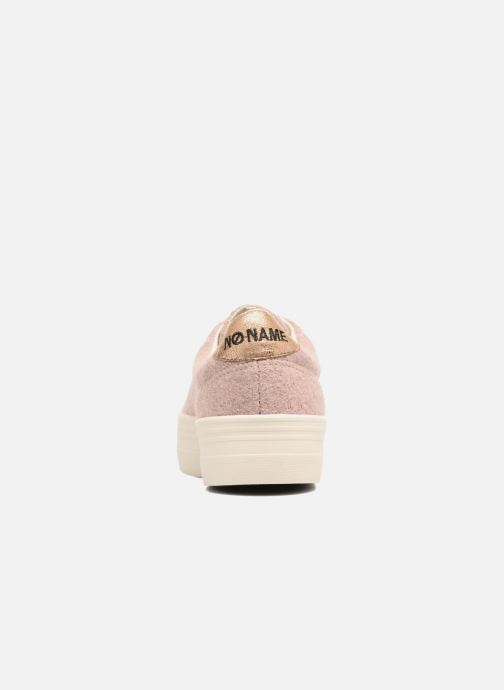 Baskets No Name Plato sneaker wake Rose vue droite