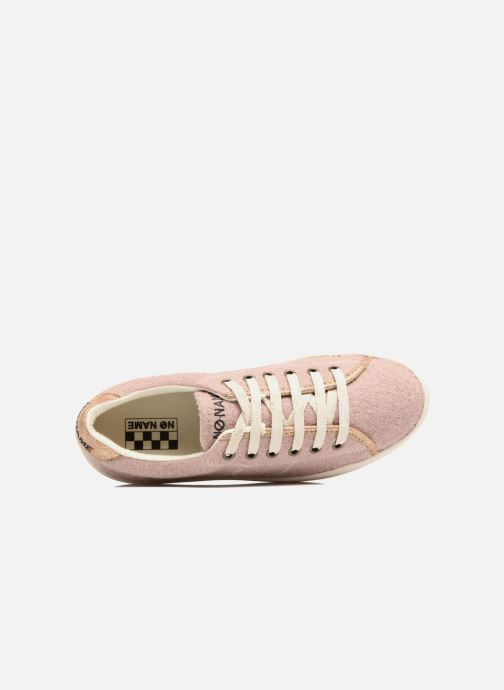Baskets No Name Plato sneaker wake Rose vue gauche