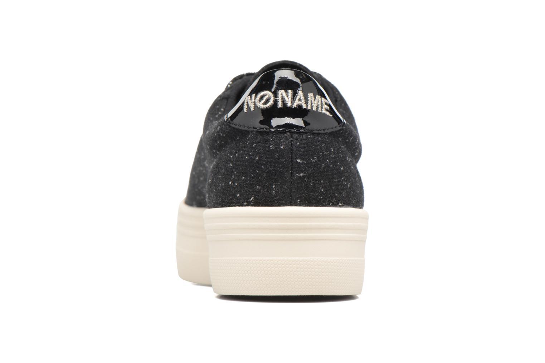 Baskets No Name Plato sneaker patent Noir vue droite