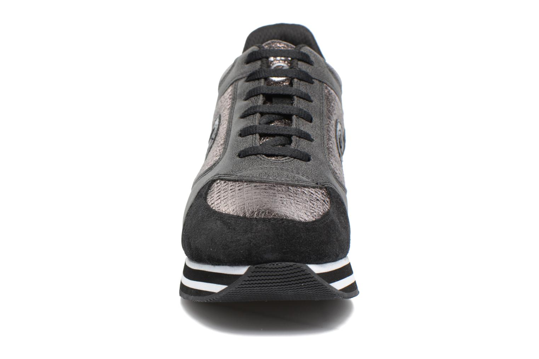 Sneakers No Name Parko jogger play suede Nero modello indossato
