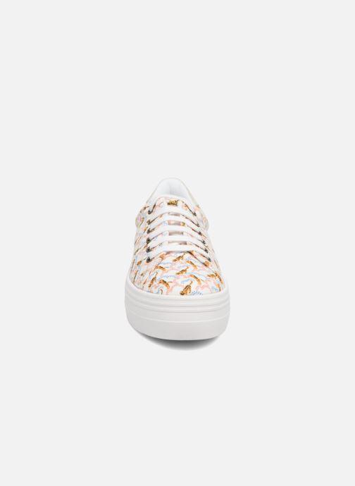 Deportivas No Name Plato sneaker pink twill print tiger Blanco vista del modelo