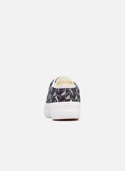 Baskets No Name Plato sneaker pink twill print tiger Bleu vue droite