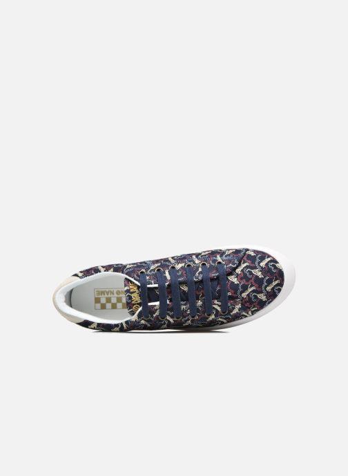 Baskets No Name Plato sneaker pink twill print tiger Bleu vue gauche