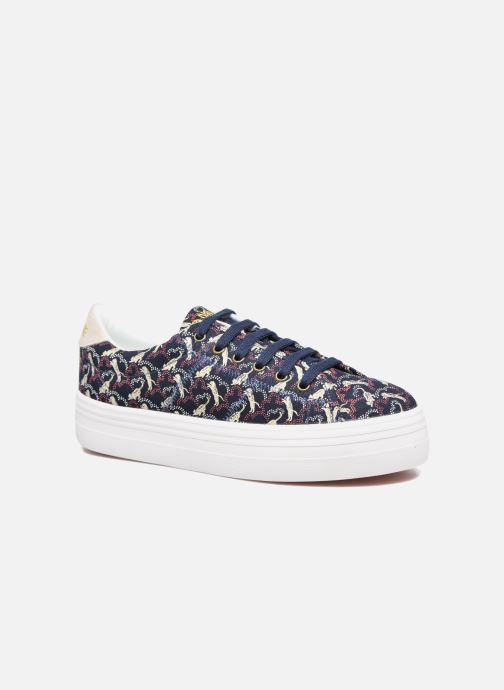 Baskets No Name Plato sneaker pink twill print tiger Bleu vue détail/paire