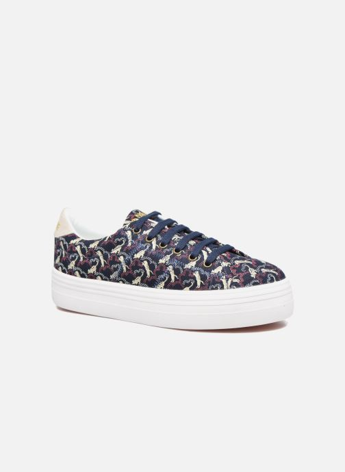 Baskets No Name Plato sneaker pink twill print tiger Bleu vue détail/paire