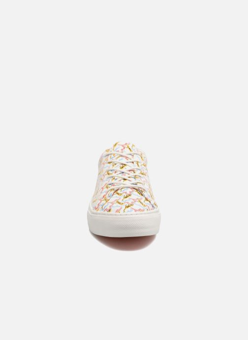 Baskets No Name Arcade sneaker pink nappa print tiger Blanc vue portées chaussures