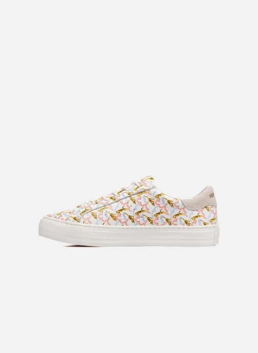 Baskets No Name Arcade sneaker pink nappa print tiger Blanc vue face