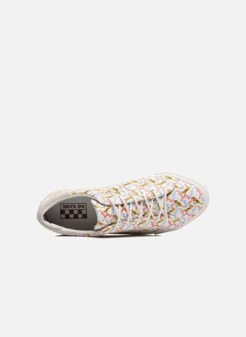 Baskets No Name Arcade sneaker pink nappa print tiger Blanc vue gauche