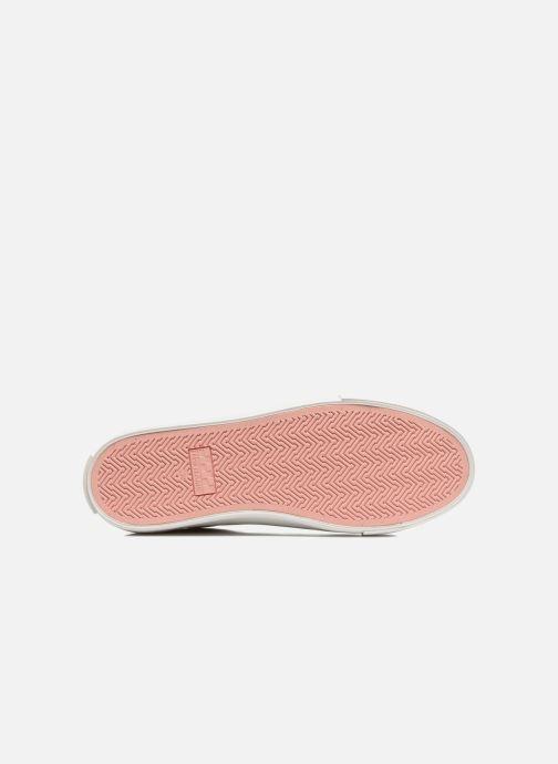 Baskets No Name Arcade sneaker pink nappa print tiger Blanc vue haut