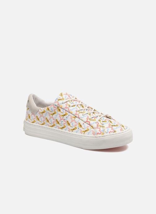 Baskets No Name Arcade sneaker pink nappa print tiger Blanc vue détail/paire