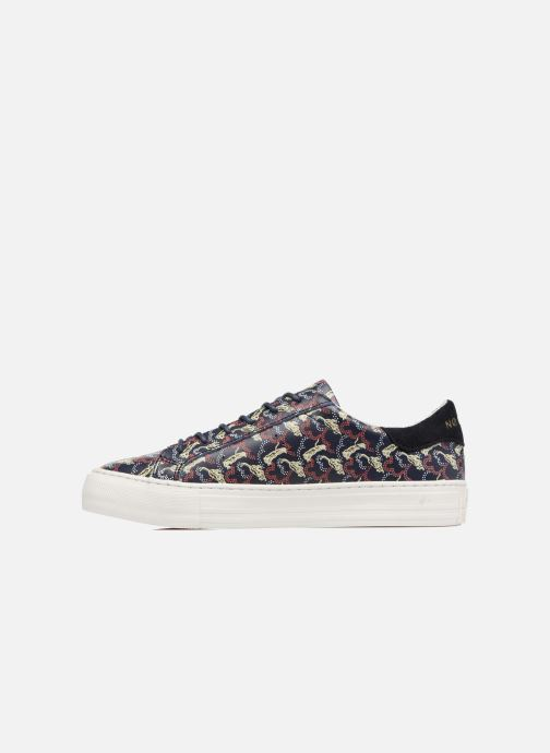 Baskets No Name Arcade sneaker pink nappa print tiger Bleu vue face