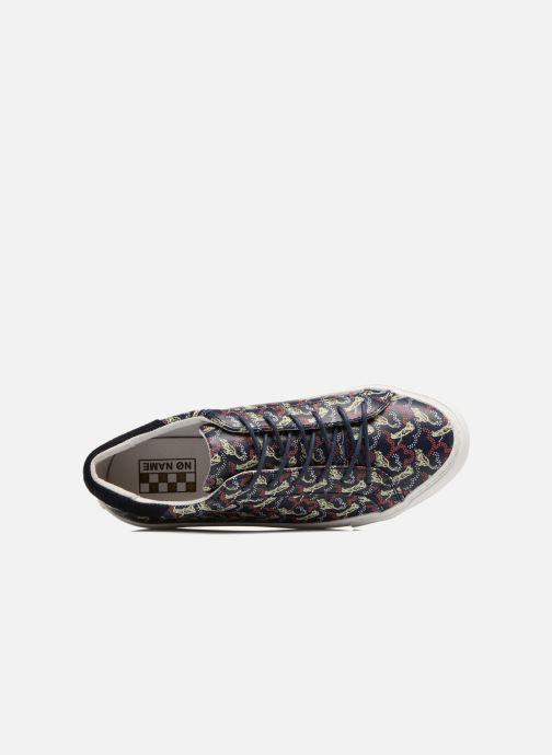 Baskets No Name Arcade sneaker pink nappa print tiger Bleu vue gauche