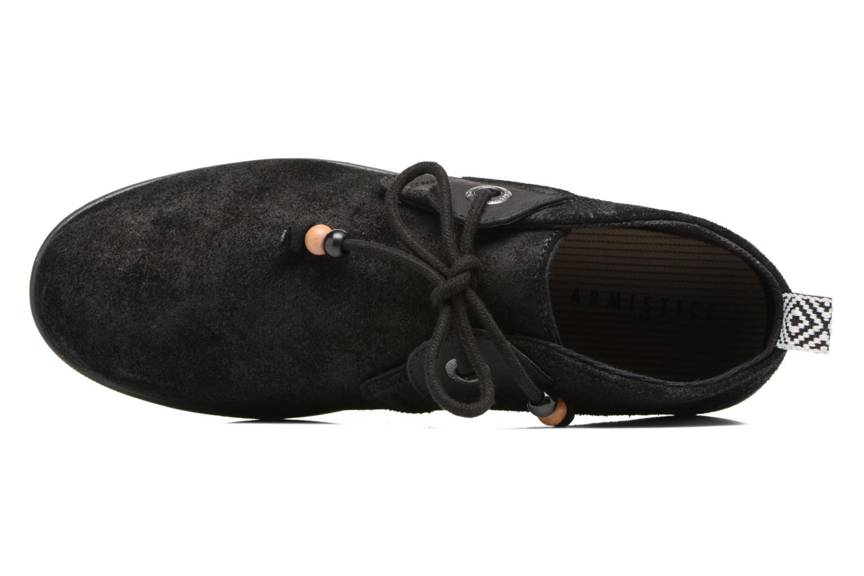 Baskets Armistice Stone mid cut oxyde Noir vue gauche