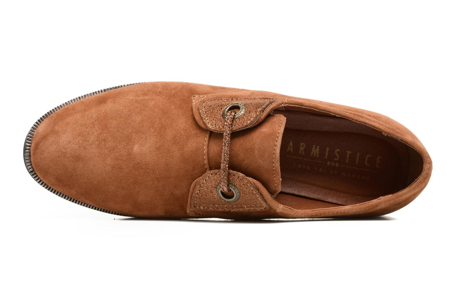 Lace-up shoes Armistice Hero one Brown view from the left