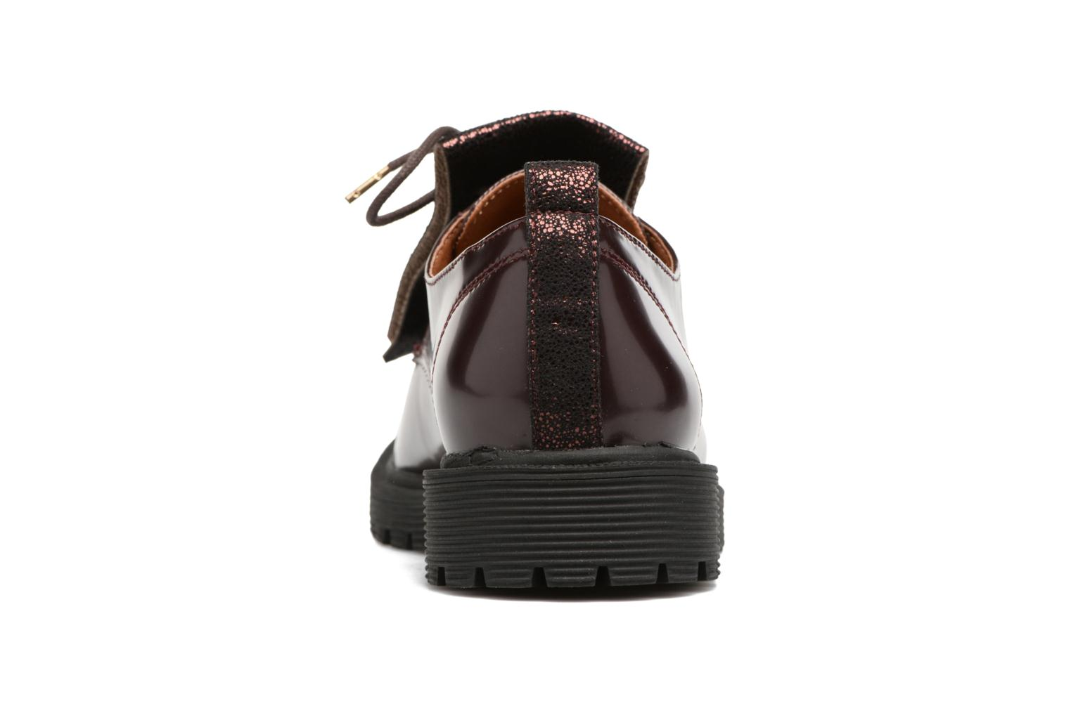 Lace-up shoes Armistice Rock Derby Burgundy view from the right