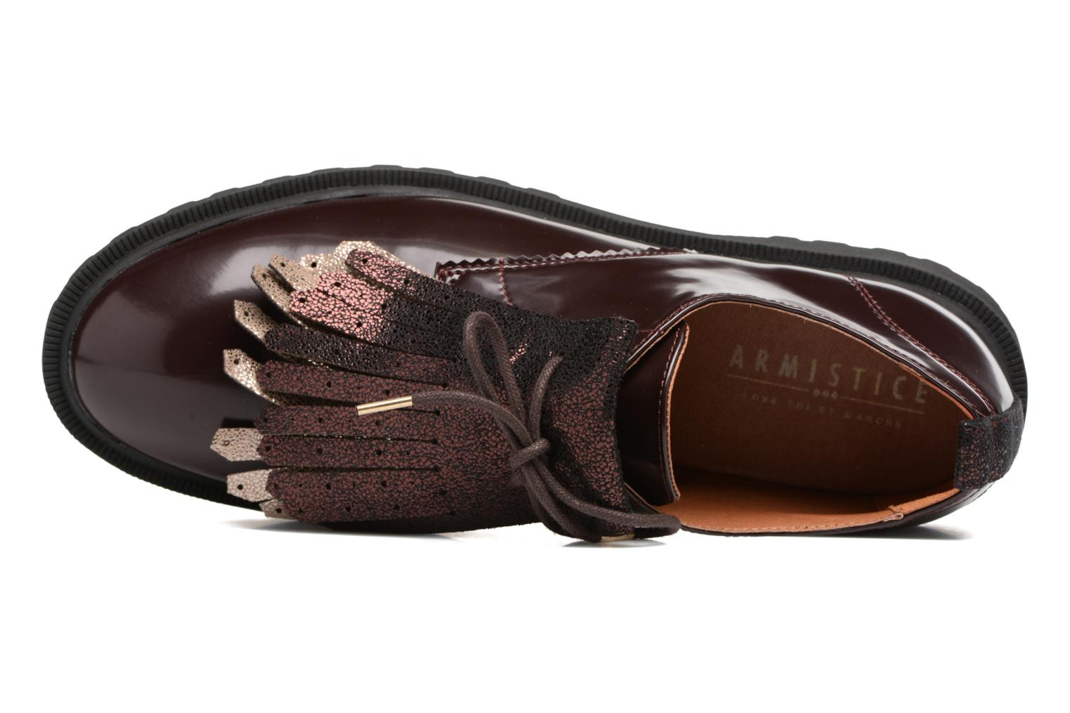 Lace-up shoes Armistice Rock Derby Burgundy view from the left