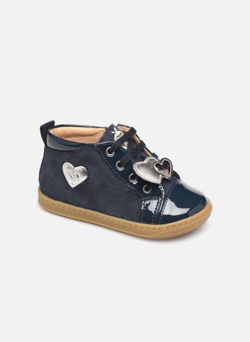 Bottines et boots Shoo Pom Bouba Heart Bleu vue détail/paire