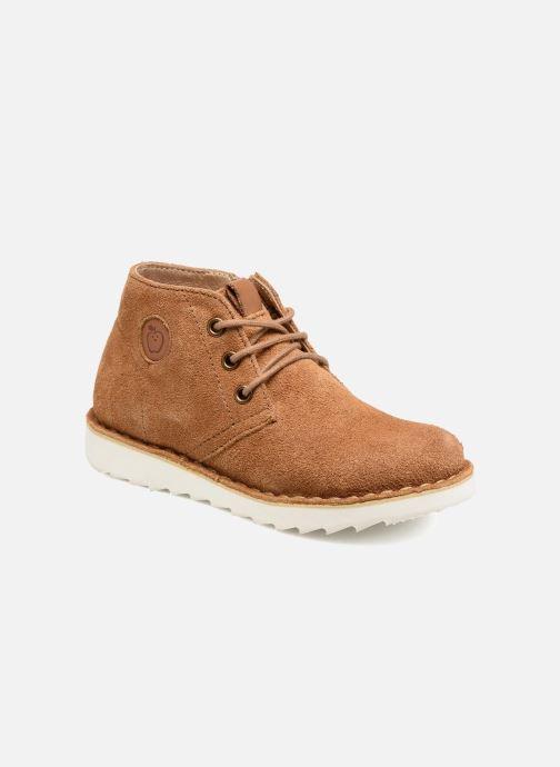 Chaussures à lacets Shoo Pom Milky Desert Marron vue détail/paire