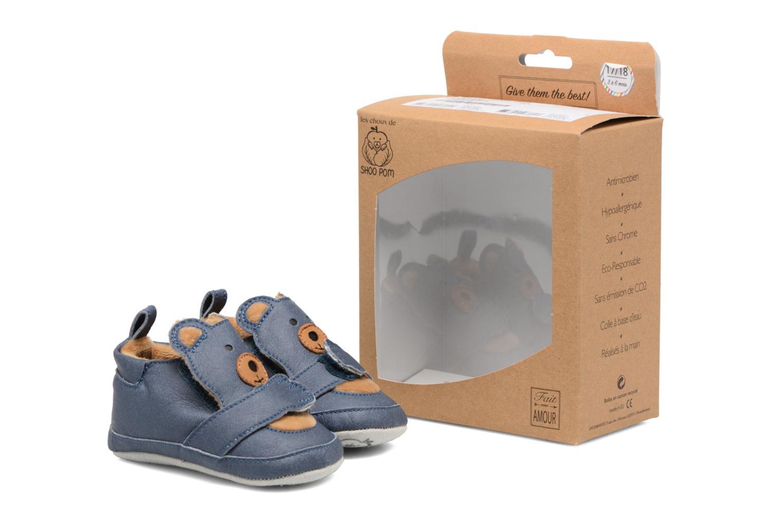 Pantofole Shoo Pom Chou Teddy Boy Azzurro immagine 3/4