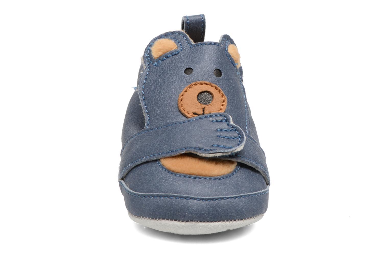 Pantofole Shoo Pom Chou Teddy Boy Azzurro modello indossato