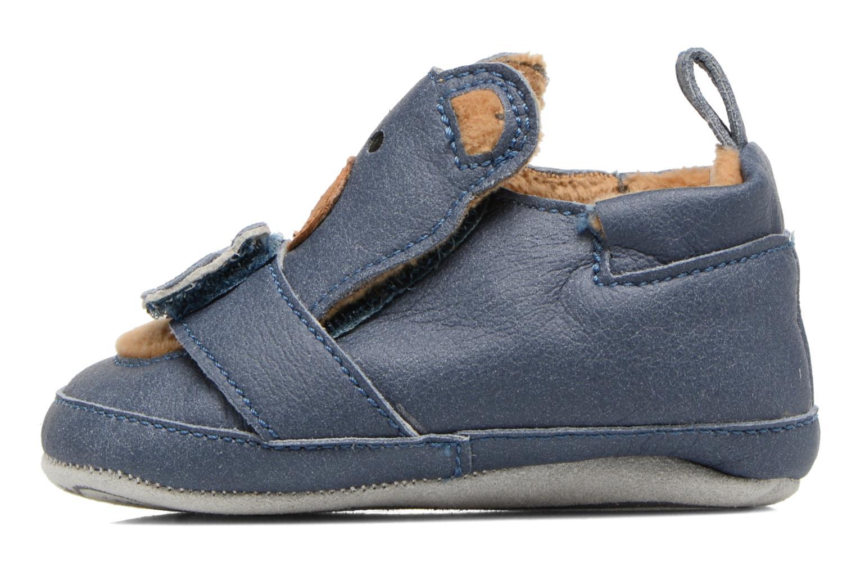 Pantofole Shoo Pom Chou Teddy Boy Azzurro immagine frontale