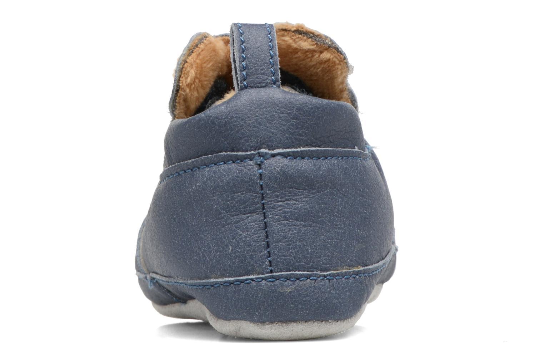 Pantofole Shoo Pom Chou Teddy Boy Azzurro immagine destra