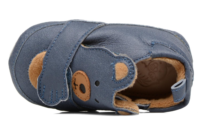 Pantofole Shoo Pom Chou Teddy Boy Azzurro immagine sinistra