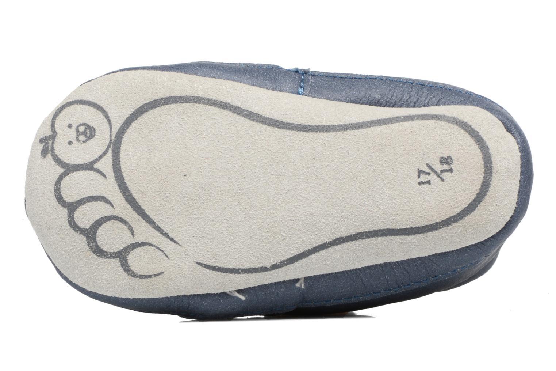 Pantofole Shoo Pom Chou Teddy Boy Azzurro immagine dall'alto