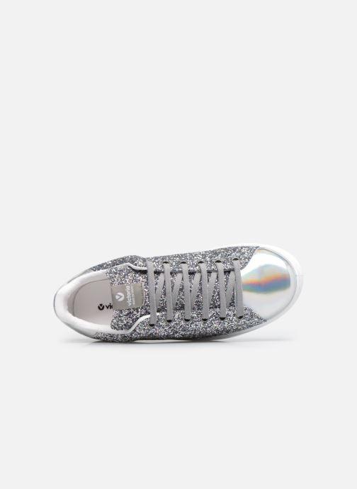 Sneakers Victoria Deportivo Basket Glitter W Argento immagine sinistra