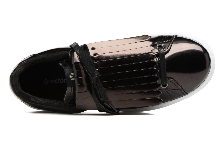 Sneakers Victoria Deportivo Flecos Espejo Zwart links
