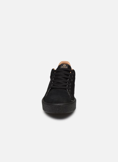 Baskets Victoria Deportivo Serraje P. Negro Noir vue portées chaussures