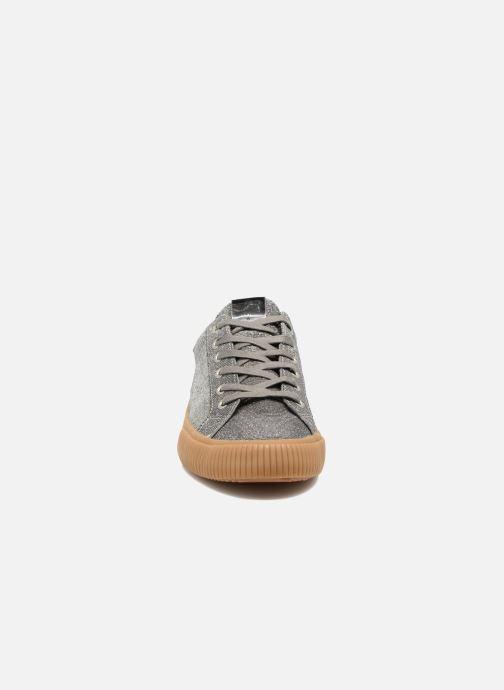 Sneaker Victoria Deportivo Lurex silber schuhe getragen