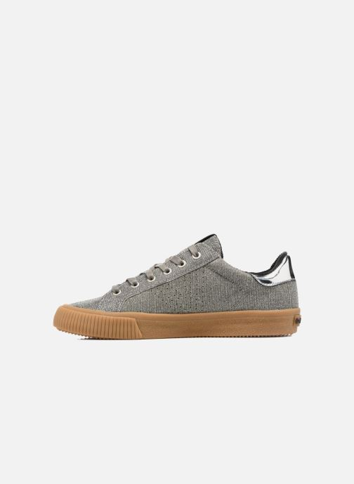 Trainers Victoria Deportivo Lurex Silver front view