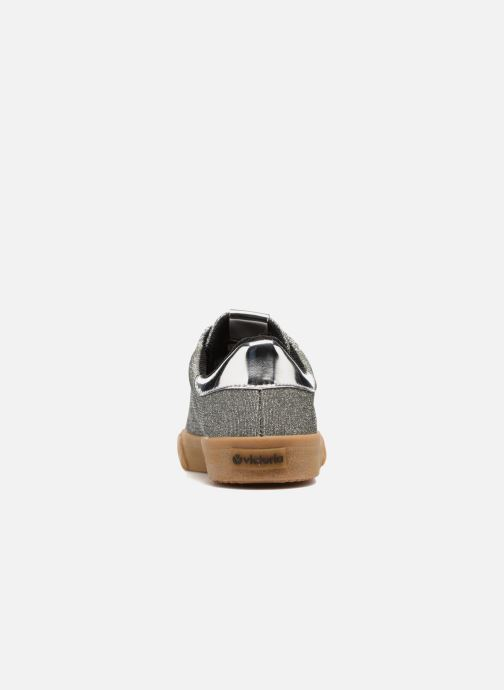 Trainers Victoria Deportivo Lurex Silver view from the right