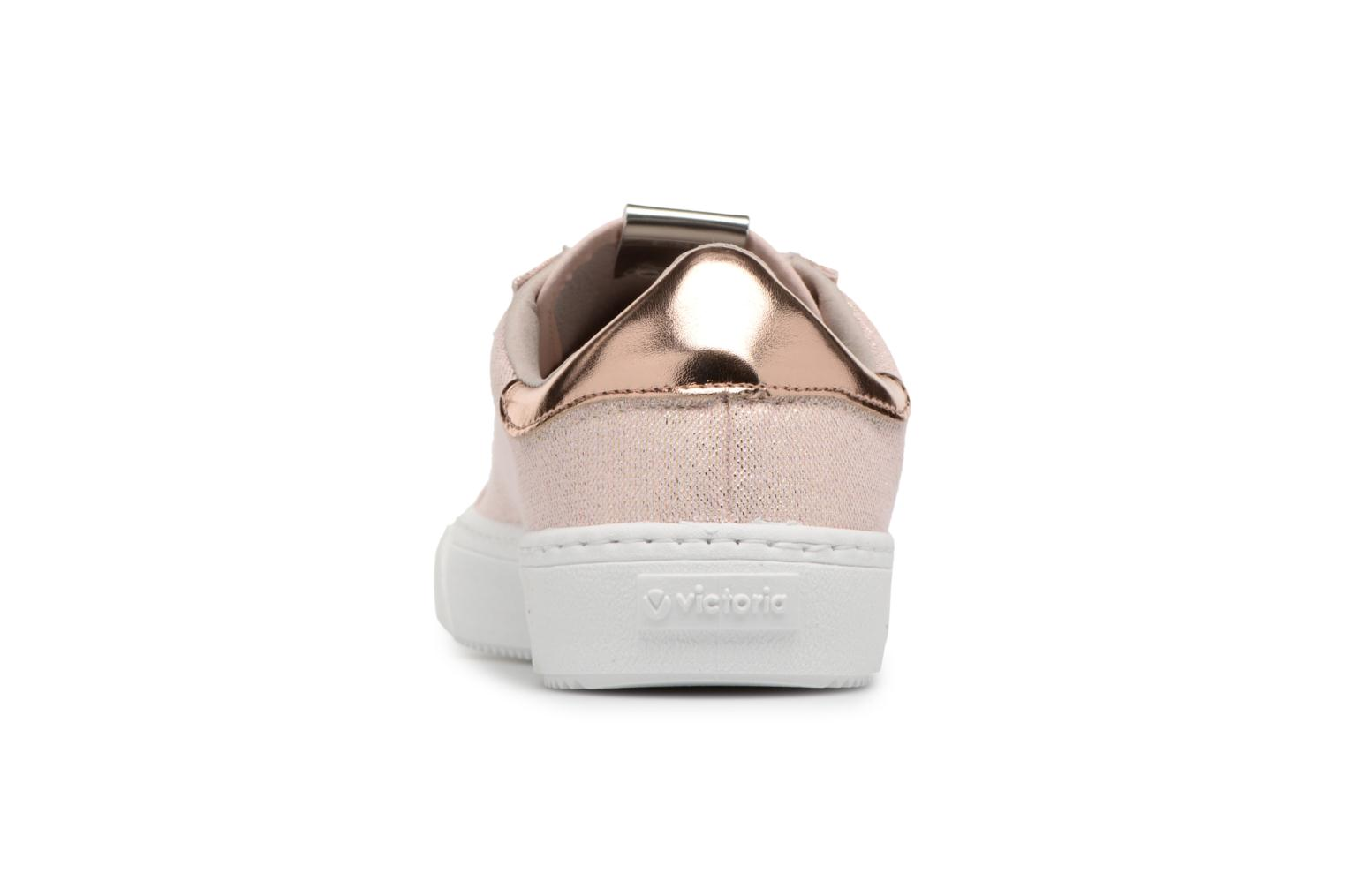 Trainers Victoria Deportivo Lurex Pink view from the right