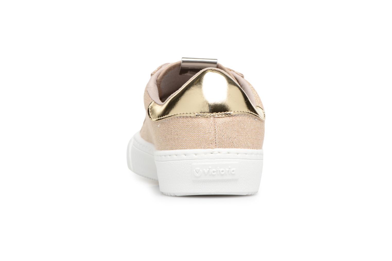 Sneakers Victoria Deportivo Lurex Goud en brons rechts
