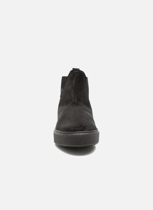Bottines et boots Victoria Chelsea Serraje Encerado/Piel Noir vue portées chaussures