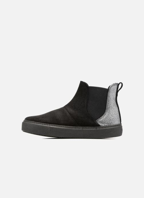 Bottines et boots Victoria Chelsea Serraje Encerado/Piel Noir vue face