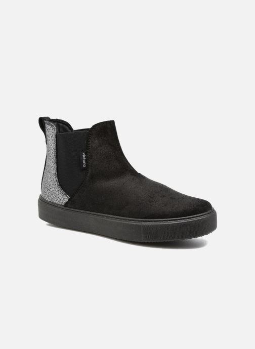 Bottines et boots Victoria Chelsea Serraje Encerado/Piel Noir vue détail/paire