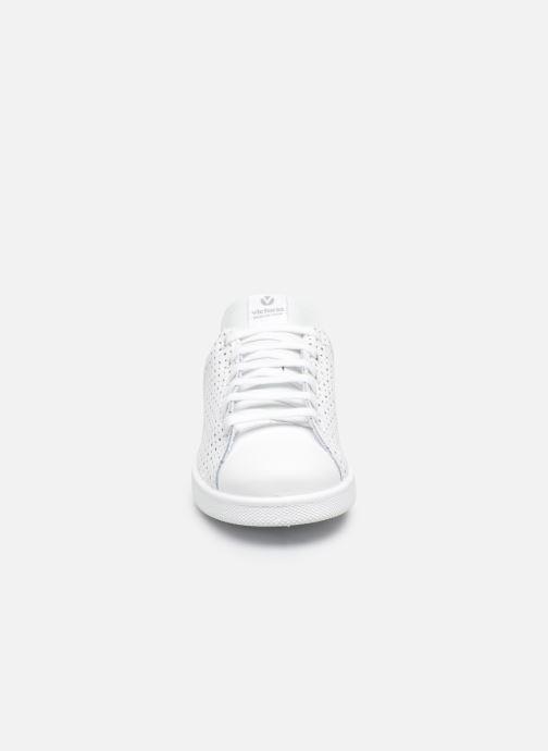 Baskets Victoria Deportivo Tenis Perforado Blanc vue portées chaussures